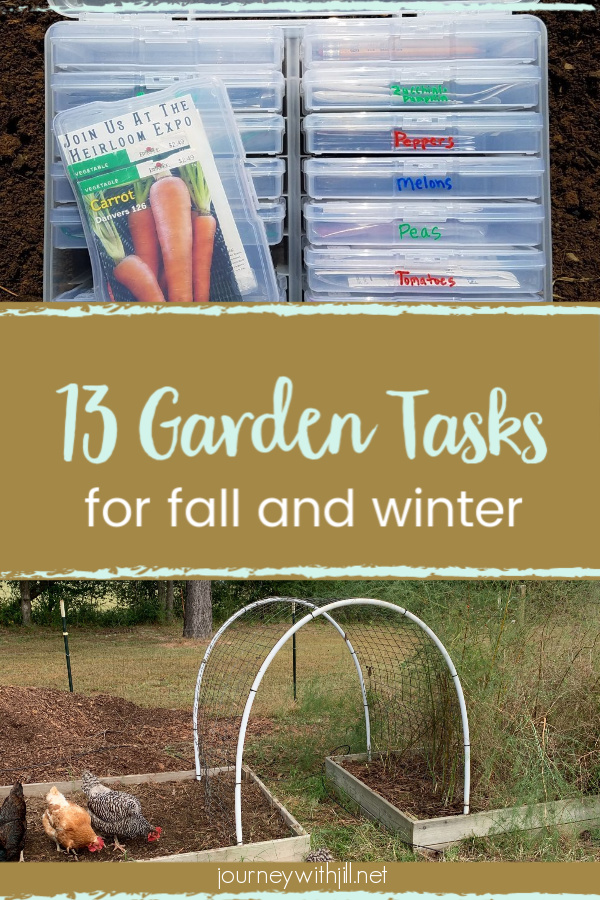 Don't waste your fall and winter in your garden. Get ready for spring NOW with these 13 tasks. #garden #fallandwinter #getreadyforspring
